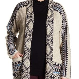 Lucky Brand Printed Knit Cardigan * Plus Size